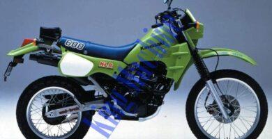 Manual Moto Kawasaki KLR 600 Reparación y Servicio
