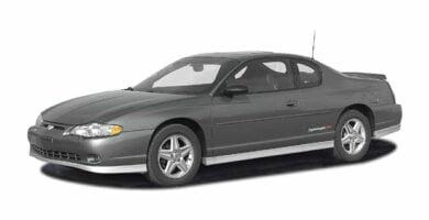 Manual Monte Carlo 2004 Chevrolet de Taller y Mantenimiento