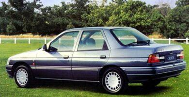 Manual ESCORT 1993 Ford PDF de Taller y Mantenimiento