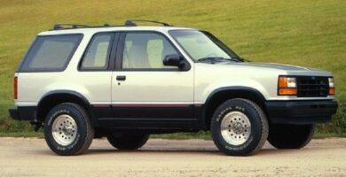Manual EXPLORER 1992 Ford PDF de Taller y Mantenimiento